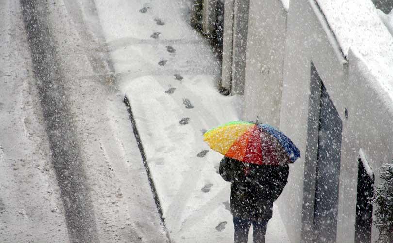 ombrel·la parasol umbrella neu nieve snow paraigua paragua