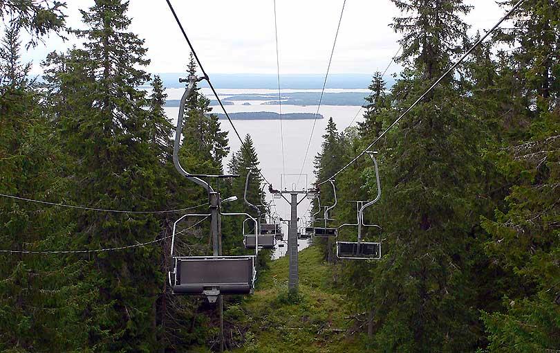 lake pielinen national park koli parc parque nacional finlandia finland telesilla