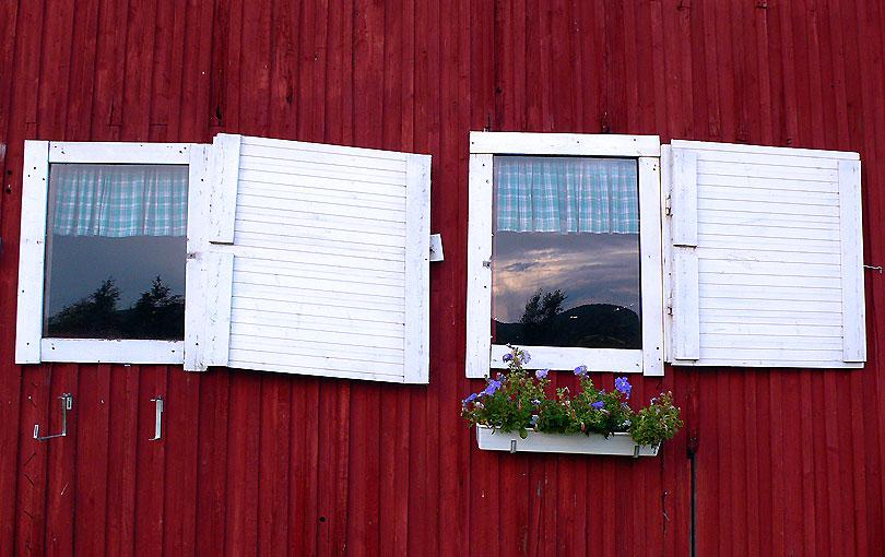 finestres ventanas windows flors vermell rojo red flowers flores