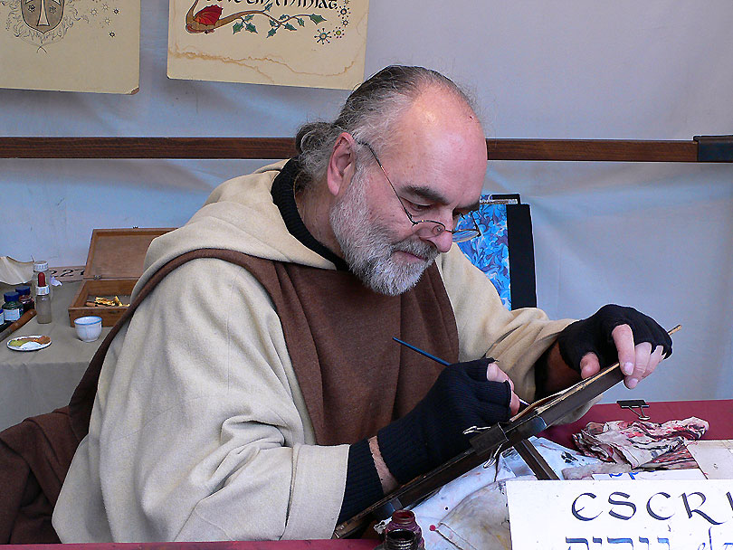 court clerk vic escriva escribano escriptura escritura mercat medieval mercado