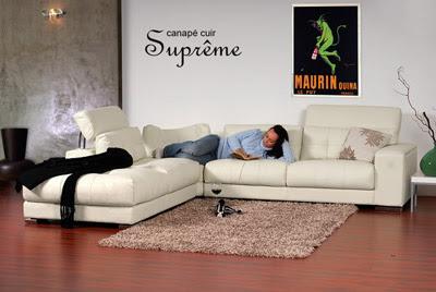 Canapé d'angle cuir Suprême chez Interia-meubles.com