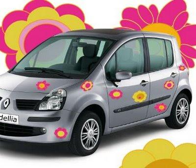 Sticker voiture fleurs d'Hawaï