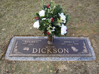 Richard & Donna Dickson's marker placed at Donna's resting place