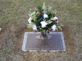 Grave marker for Mary Finger, Donna's mother