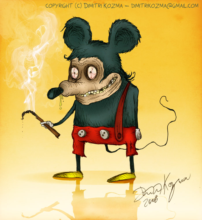 Mickey Mouse Smoking Weed