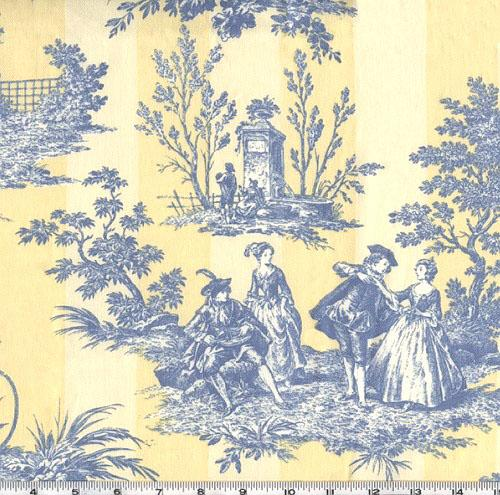 YELLOW AND BLUE TOILE CURTAINS Curtains Blinds