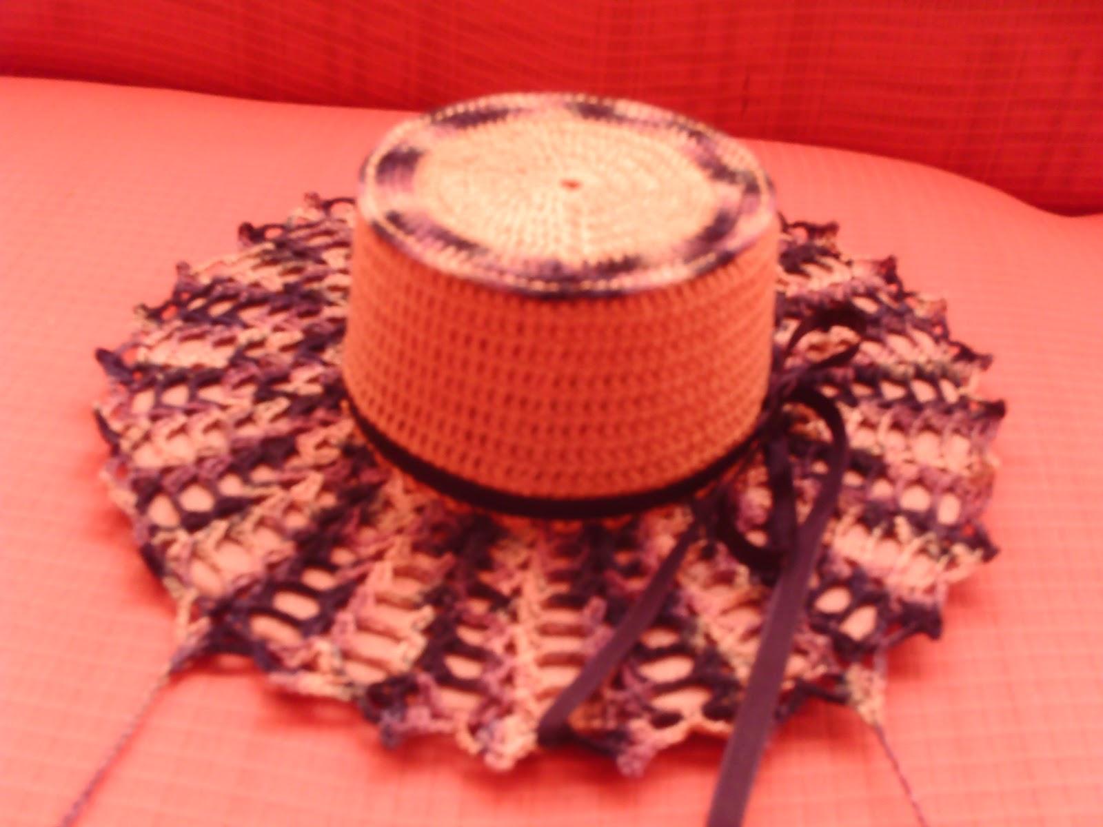 CROCHÊ MARAVILHAS EM FIOS: porta pano de prato chapéu