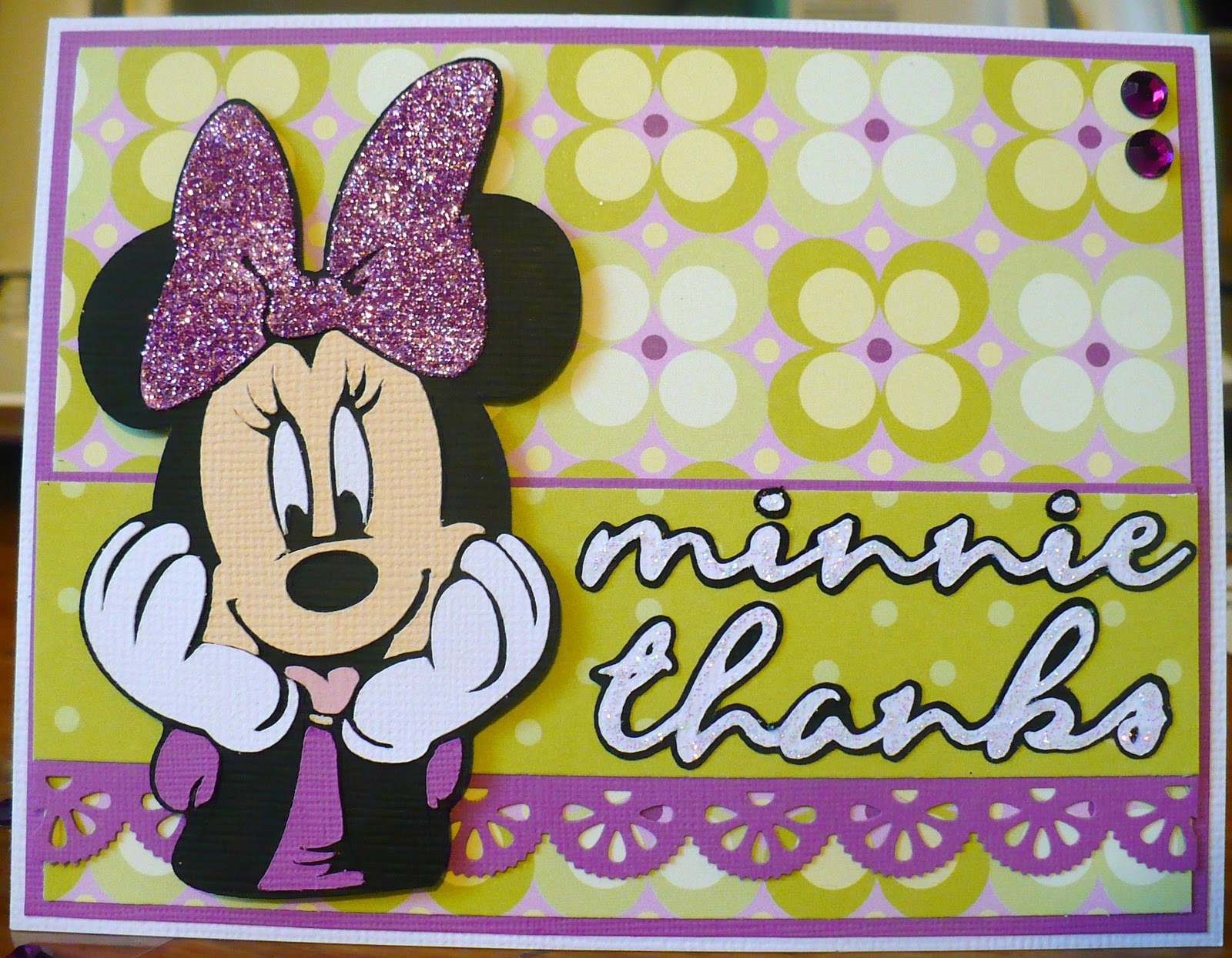 handmade by mary minnie mouse thank you cards