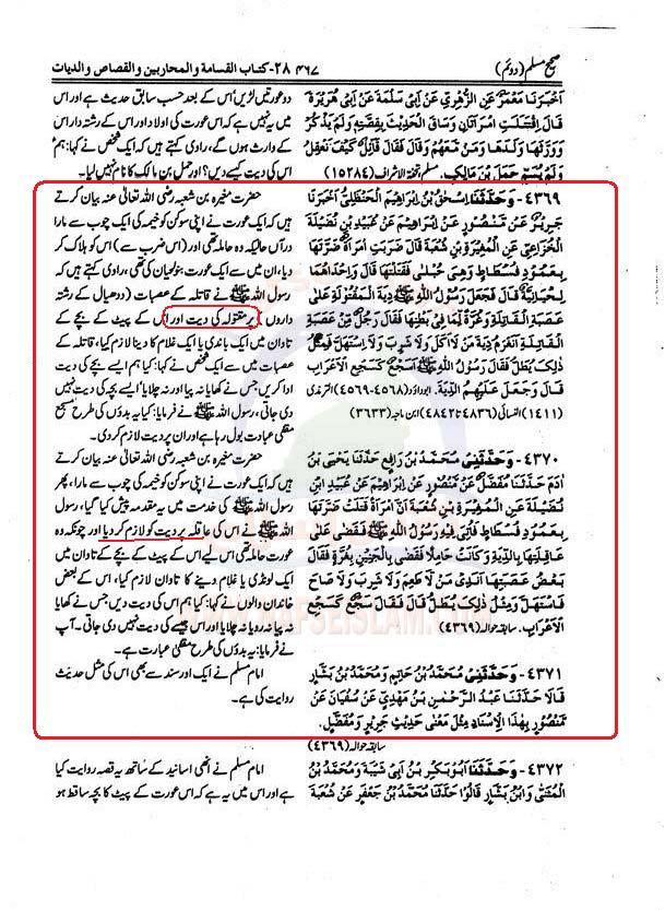Aorat  ki  Diyat Muslim+2