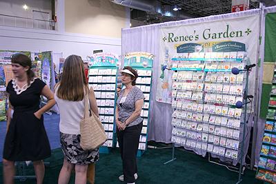 Renees Garden seed booth at Independent Garden Center Show 2009
