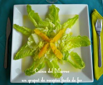 Amanida d'enciam i taronja - Chlada