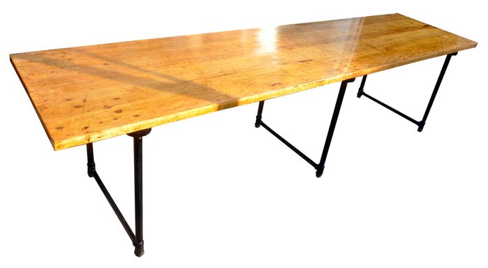 scout chicago beautiful ten foot butcher block table