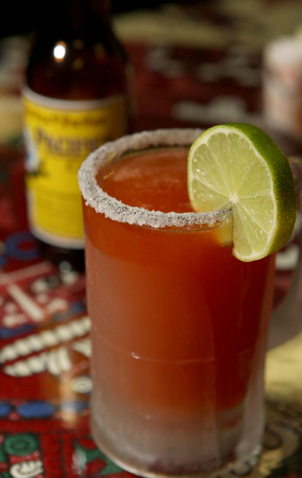 Beer And Clamato Juice Drink