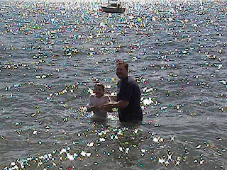 Christian, one of our students, get's baptized in lake Coeur d'Alene