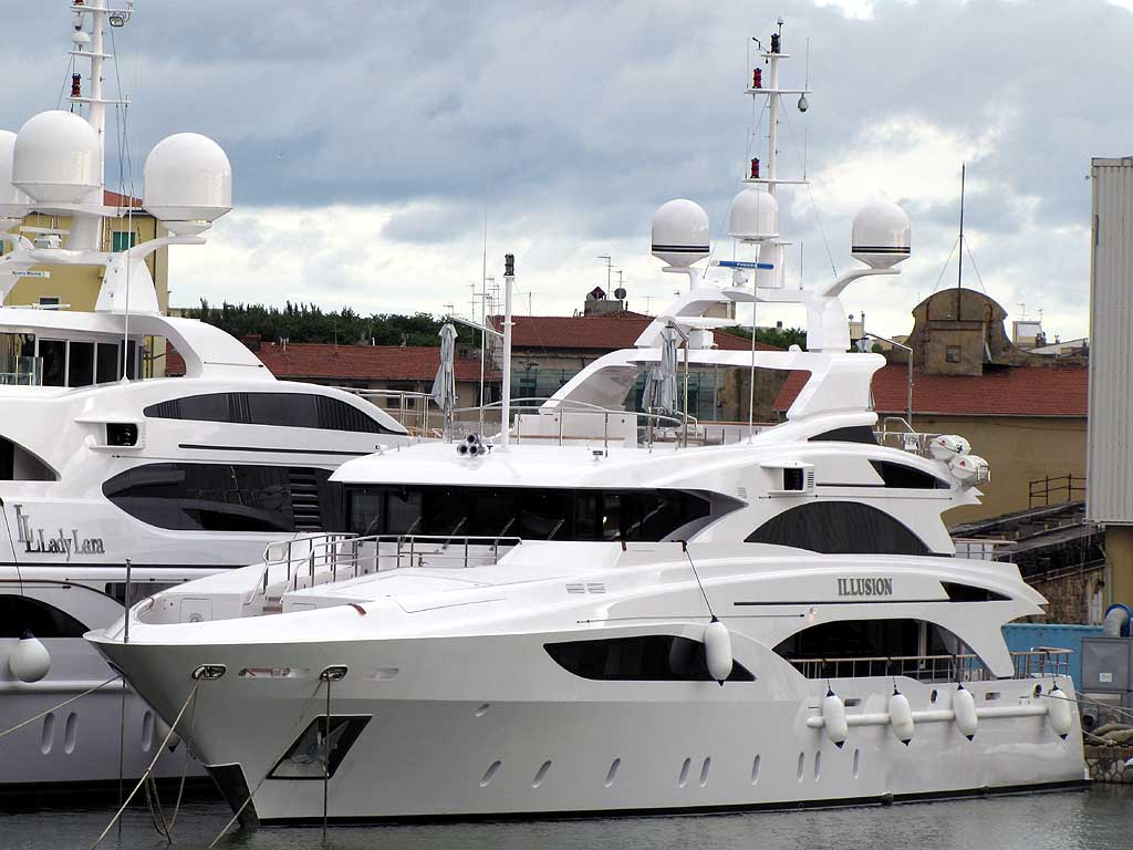 """The """"Illusion"""" is a 46.5m (152ft) boat just out of the Benetti yard, ..."""