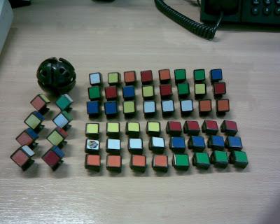 Rubik 4x4 desarmado