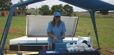 Still smiling - Martie manning the refreshment tent