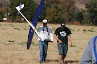Chris and Craig walking back from spot landing