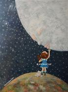 a la luna en puntas de pie