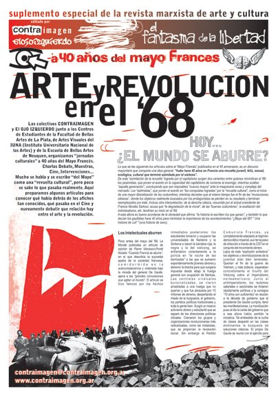 """Suplemento especial de la Revista Marxista de Arte y Cultura """"El Fantasma de la Libertad"""""""