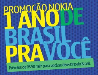 Promoção Nokia 1 ano de Brasil pra você