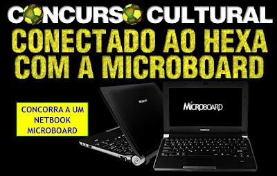 concurso cultural conectado ao hexa com a microboard