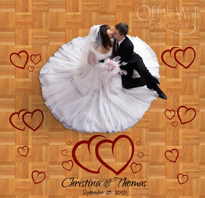 Wedding Hearts Dance Floor Set