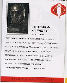 Cobra Viper, basic soldier of the Cobra organization