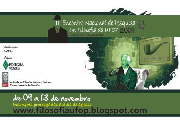 Encontro Nacional de Pesquisa em Filosofia da UFOP