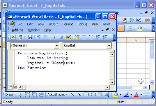 membuat function excel