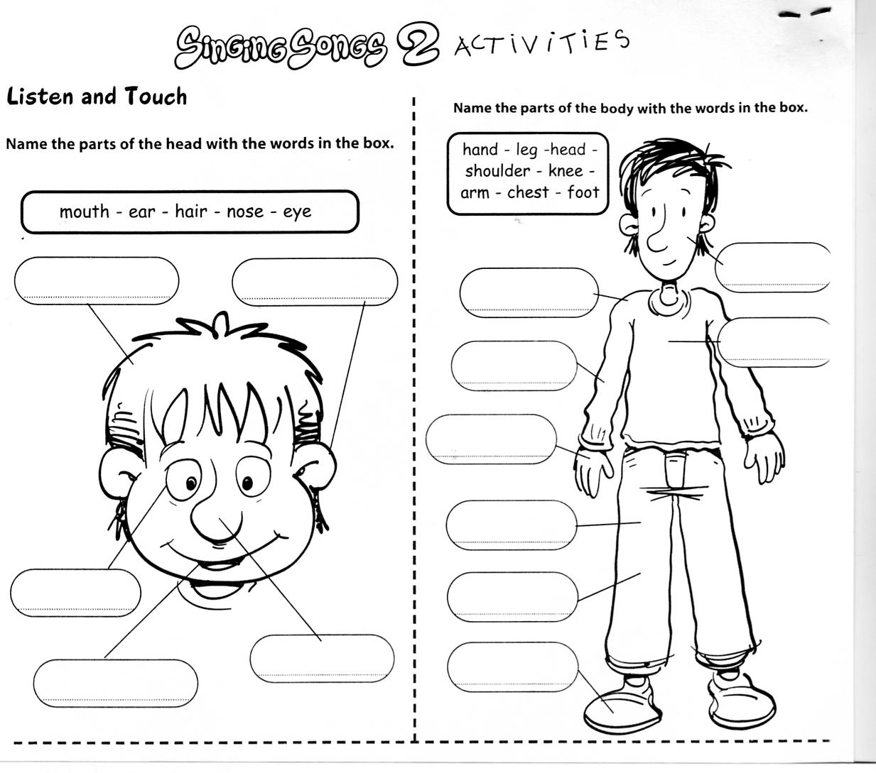 Math Worksheets Printable together with Body Parts Printable Worksheet ...
