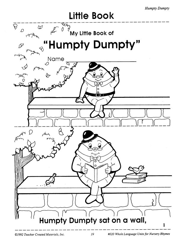 Humpty Dumpty Printable Book