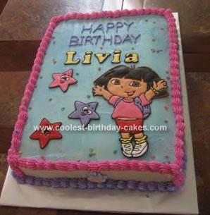 Payton Birthday Cake Dora Explorer