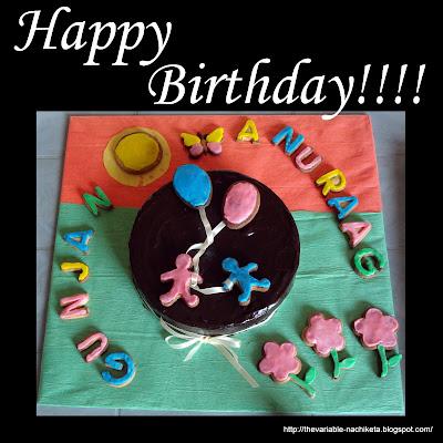Cake Images With Name Gunjan : *Crazy Over Desserts: Gunjan n Anuraag s Birthday Cookies ...