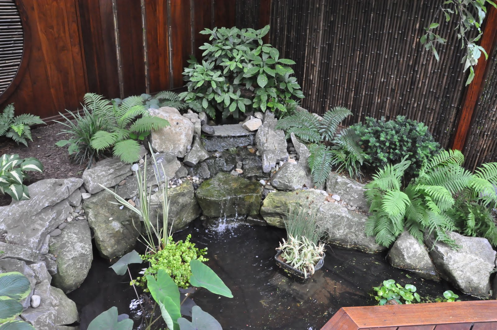 how to build a small rock garden