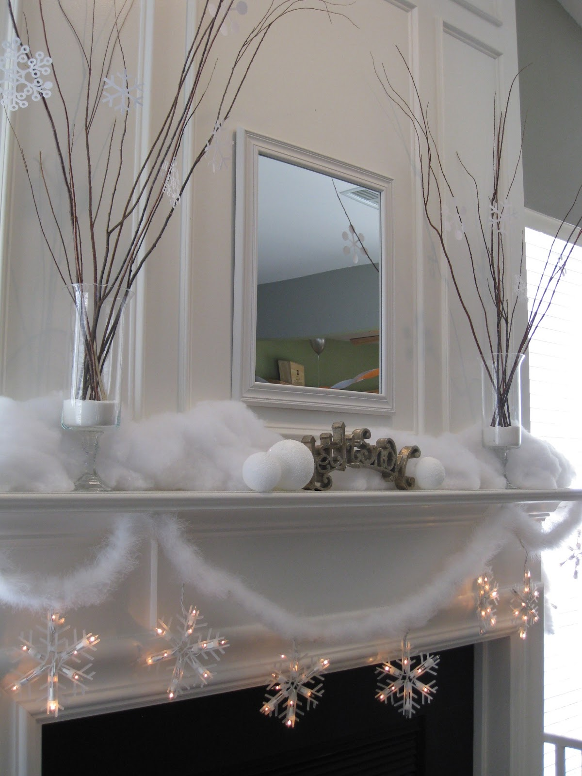 That Mommy Blog My Snowy Mantel