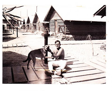 Anthony in Vietnam with his dog, Sammy