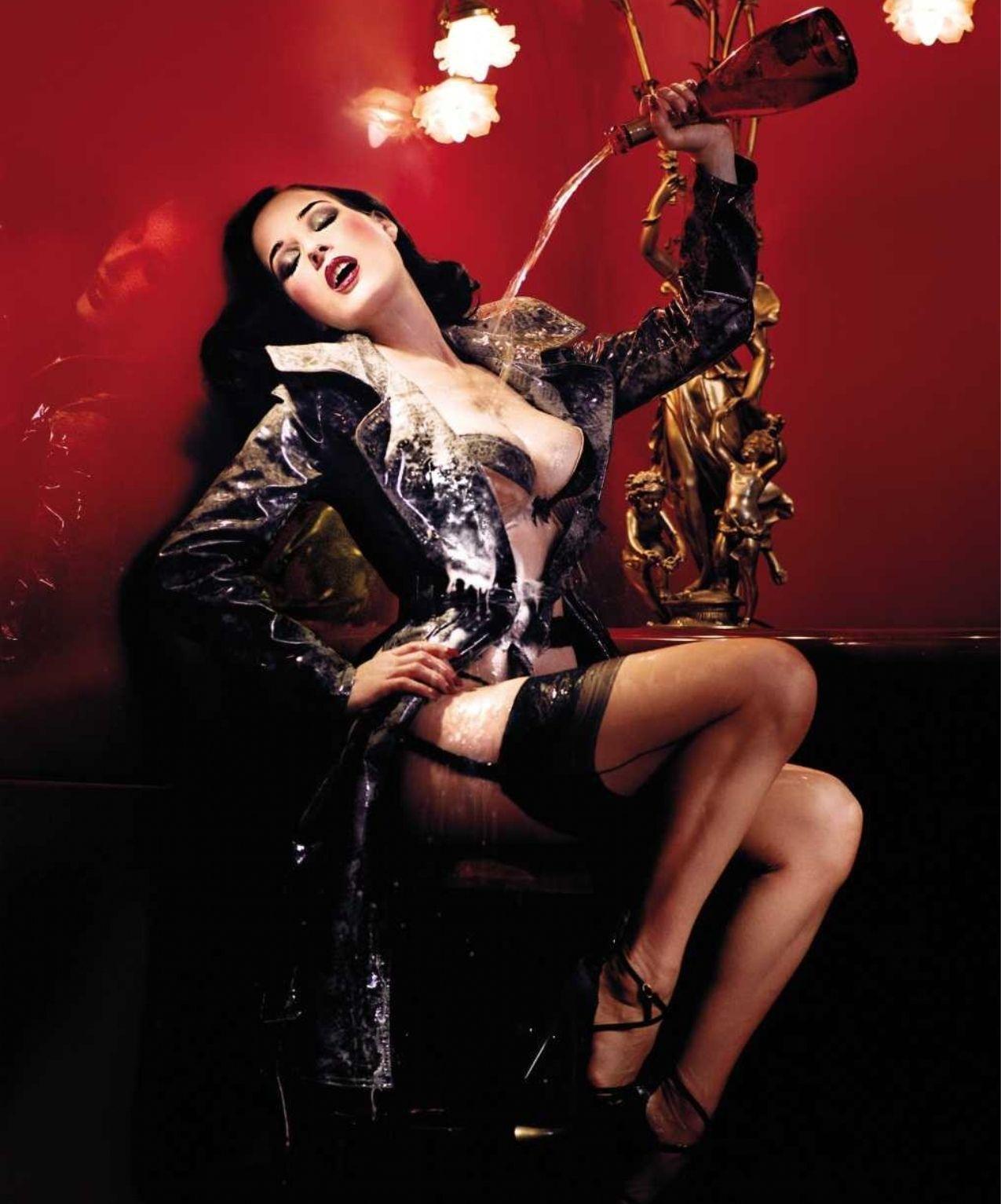 Dita Von Hot Photoshoot For Magazine Pictures Photos