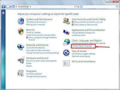 cambio de idioma windows 7