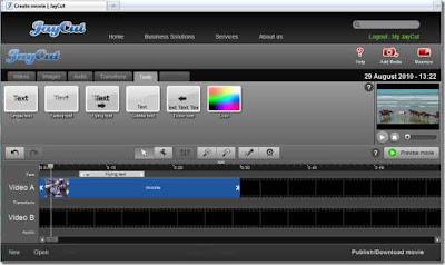 JayCut - un editor de videos gratuito online