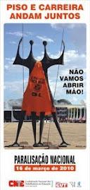 cartaz da campanha pró piso salarial dos professores