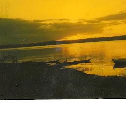Por do sol na Lagoa Encantada