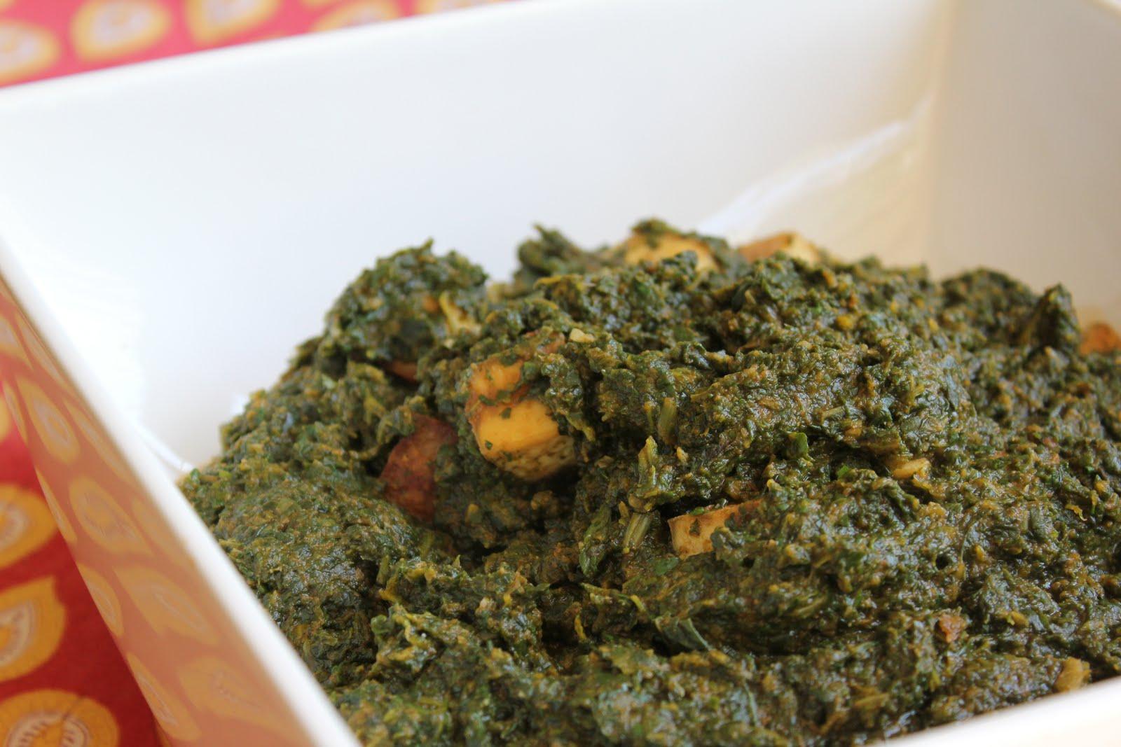 Saag Mock Paneer - Healthy Girls Kitchen Printable Recipes