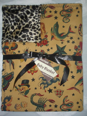 Saari Designs Beautiful Tattoo Flash Baby Blankets