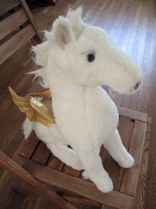 vintage plush pegasus horse