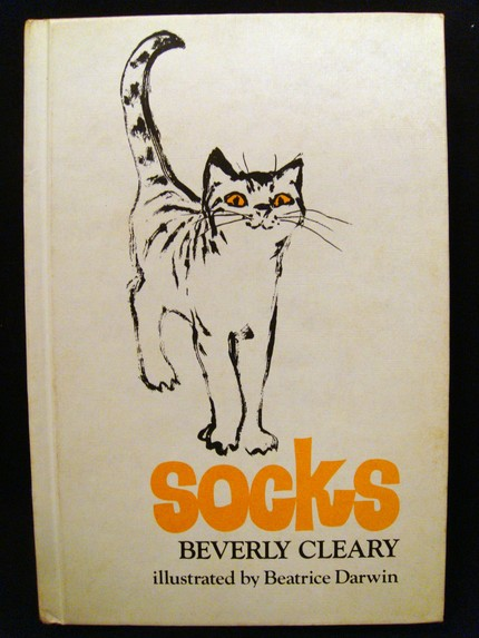 vintage socks cat book