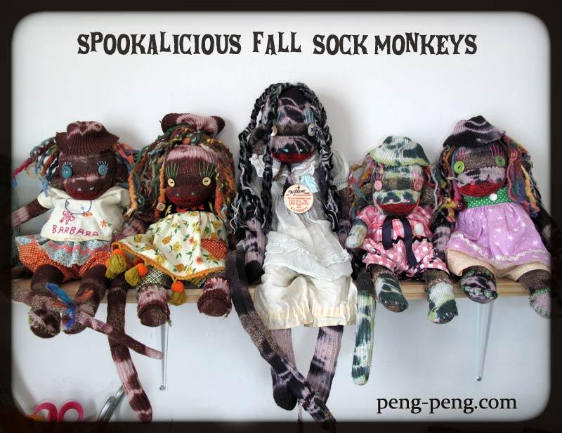 tie dyed sock monkey