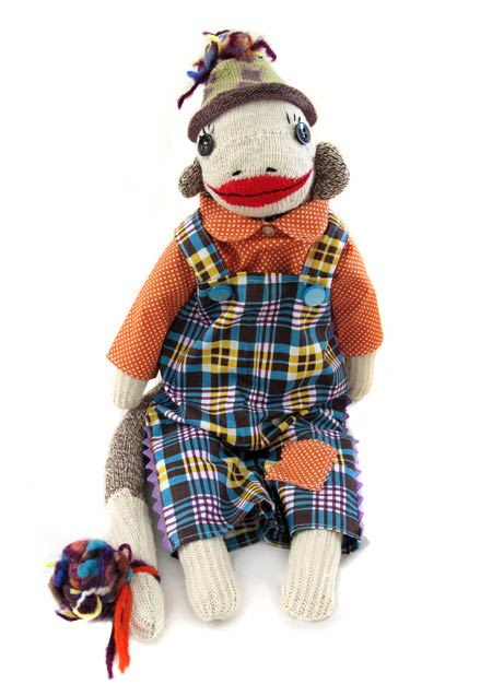 vintage sock monkey