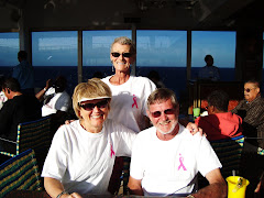 Patty, Me and Tom before the Onboard Cancer Walk