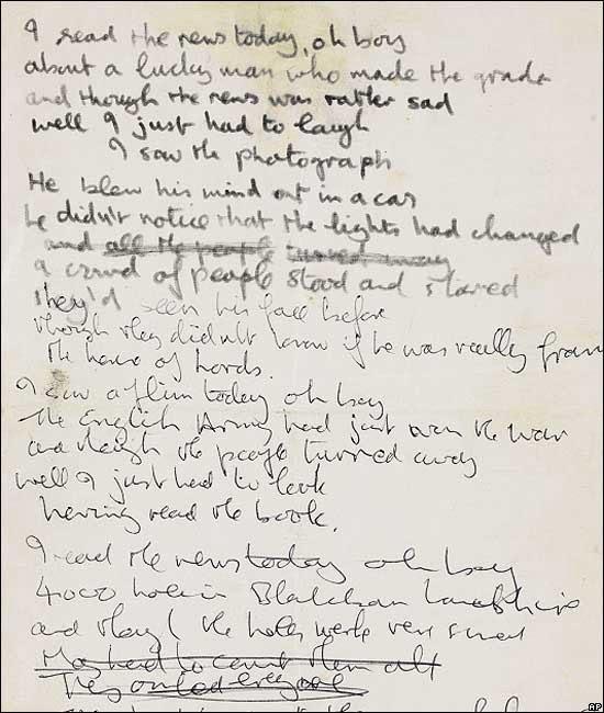 Blog Do Mrcondes Letra Manuscrita Dos Beatles Leiloada
